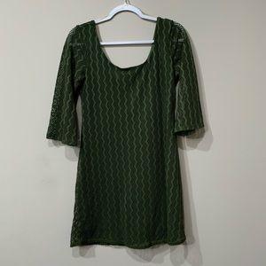 Olive green As U Wish knit dress